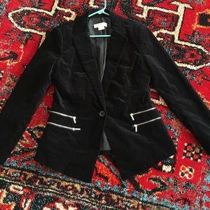 Michael Kors Black Zippered Blazer